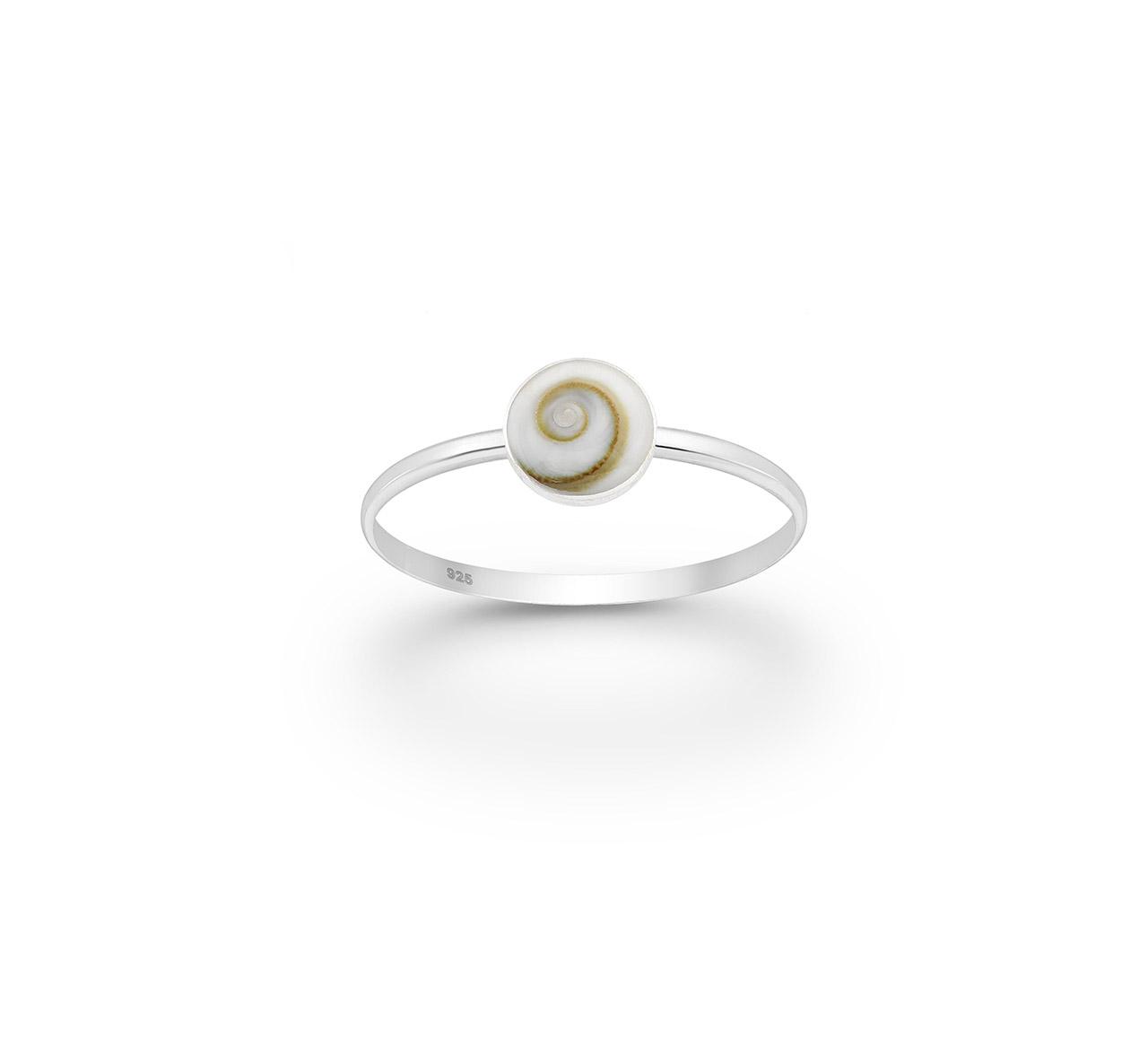 Ασημένιο Δαχτυλίδι με Κοχύλι Shiva
