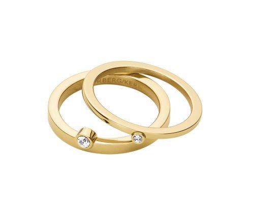 Calders II Δαχτυλίδι σε Επιχρυσωμένο Ανοξείδωτο Ατσάλι με Swarovski