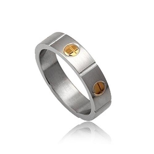 Δαχτυλίδι από Δίχρωμο Ανοξείδωτο Ατσάλι