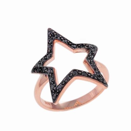 Δαχτυλίδι Αστέρι σε Ροζ Χρυσό με Ζιργκόν