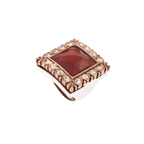 Δαχτυλίδι σε Δίχρωμο Ασήμι με Κορνεόλη και Ζιργκόν