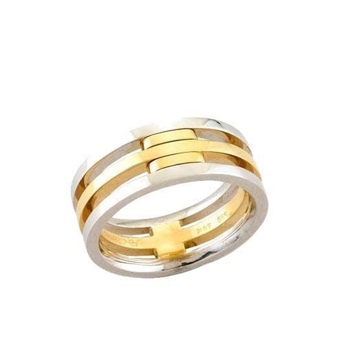 Δαχτυλίδι σε Δίχρωμο Χρυσό