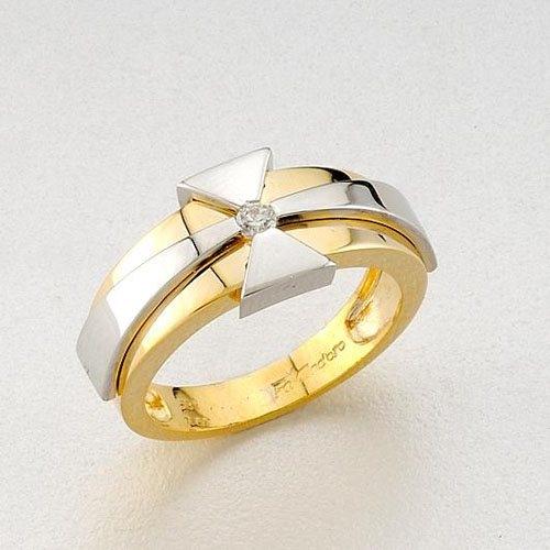 Δαχτυλίδι σε Δίχρωμο Χρυσό και Ζιργκόν Signity