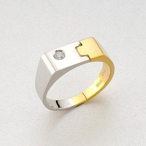 Δαχτυλίδι σε Δίχρωμο Χρυσό με Ζιργκόν Signity