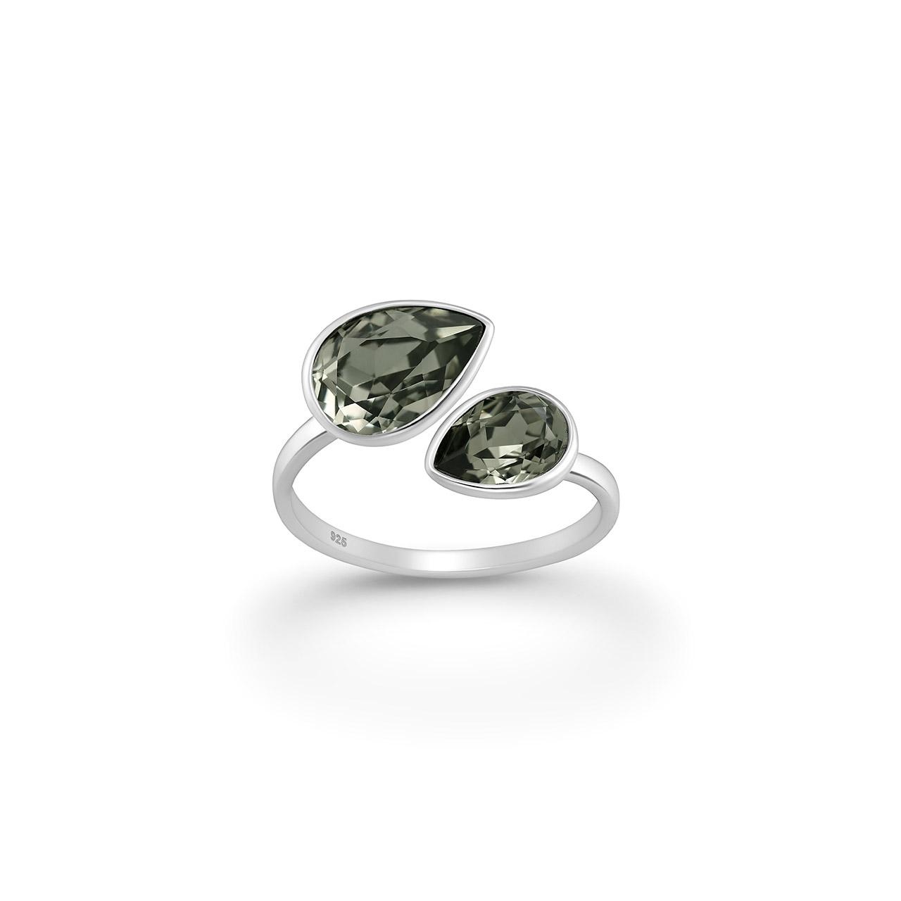 Δαχτυλίδι σε Επιροδιωμένο Ασήμι και Swarovski