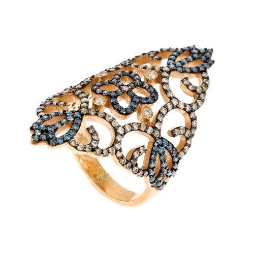Δαχτυλίδι σε Ροζ Χρυσό με Μπριγιάν