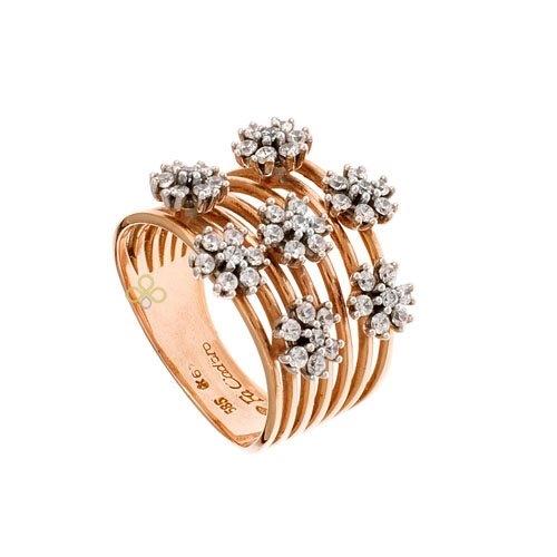 Δαχτυλίδι σε Ροζ Χρυσό με Ζιργκόν Signity