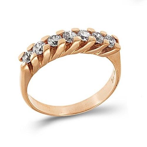 Δαχτυλίδι Σειρέ σε Ροζ Χρυσό με Ζιργκόν