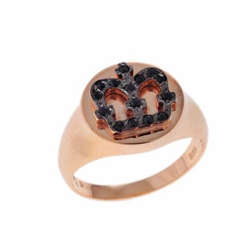 Δαχτυλίδι Σεβαλιέ Κορώνα σε Ροζ Χρυσό με Ζιργκόν