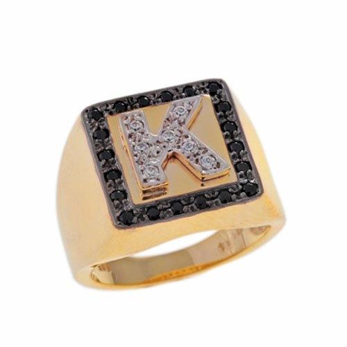 Δαχτυλίδι Σεβαλιέ με Μονόγραμμα σε Χρυσό και Ζιργκόν