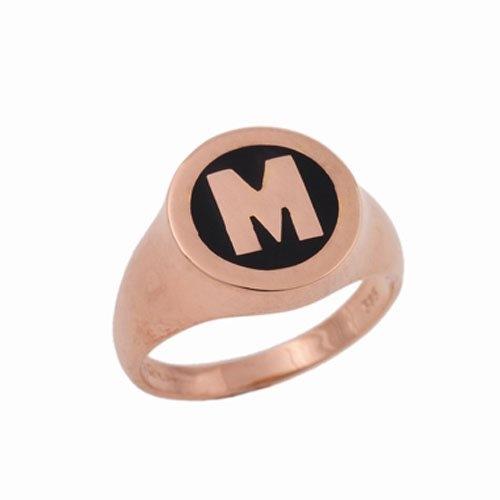 Δαχτυλίδι Σεβαλιέ σε Ροζ Χρυσό με Μονόγραμμα