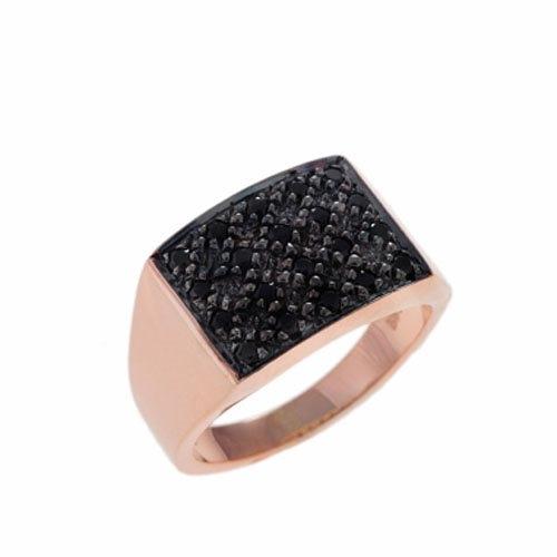 Δαχτυλίδι Σεβαλιέ σε Ροζ Χρυσό με Ζιργκόν