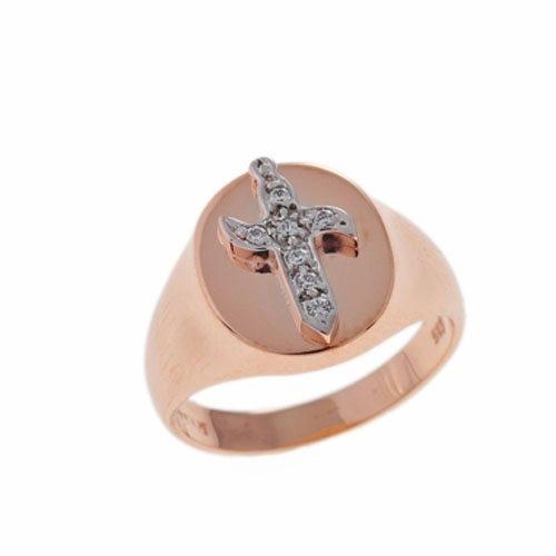 Δαχτυλίδι Σεβαλιέ Σπαθί σε Ροζ Χρυσό με Ζιργκόν