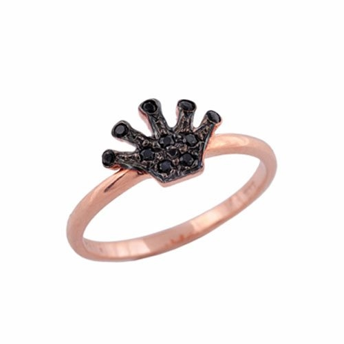 Δαχτυλίδι Στέμμα σε Ροζ Χρυσό με Ζιργκόν