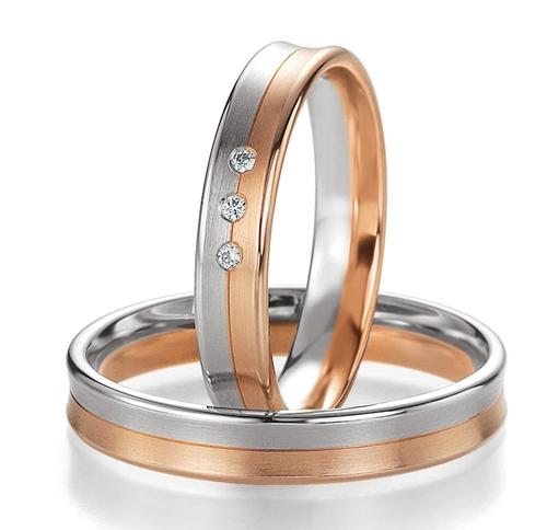 Δίχρωμες Βέρες Γάμου με Διαμάντια