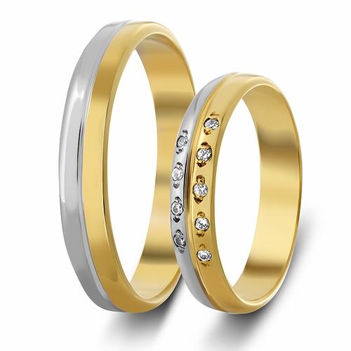 Δίχρωμες Βέρες Γάμου με Ζιργκόν