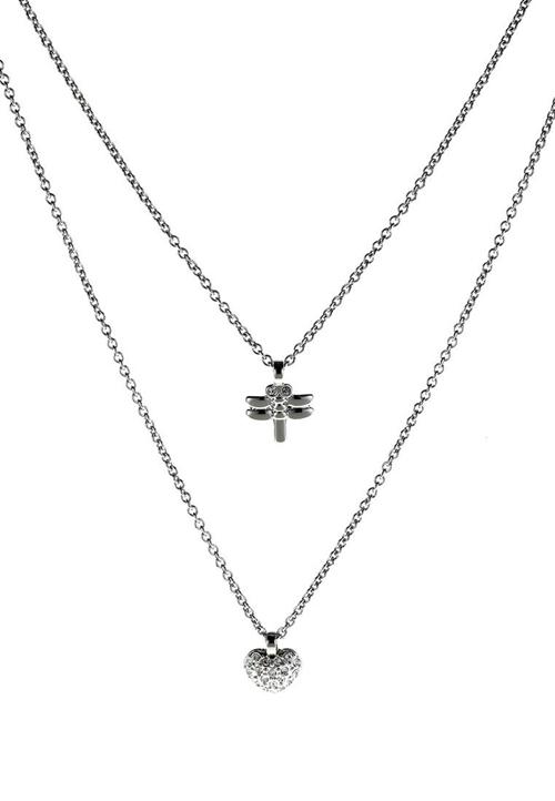 Indira SS Crystal Swarovski Necklace