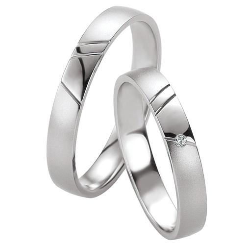 Λευκόχρυσες Βέρες Γάμου με Διαμάντι