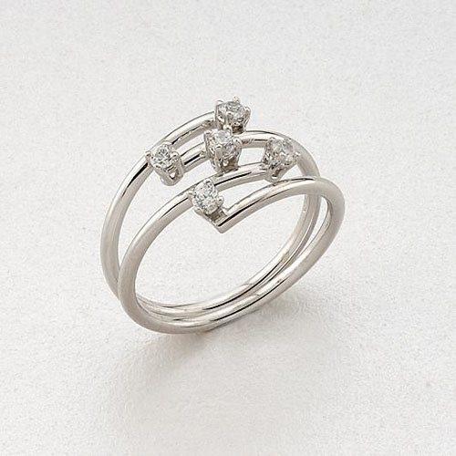 Λευκόχρυσο Δαχτυλίδι με Ζιργκόν Signity