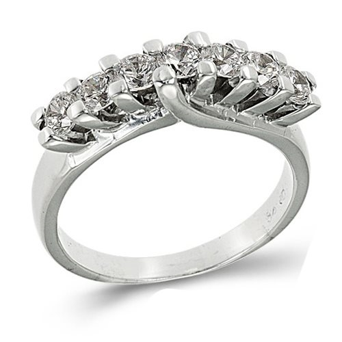 Λευκόχρυσο Δαχτυλίδι Σειρέ με Ζιργκόν