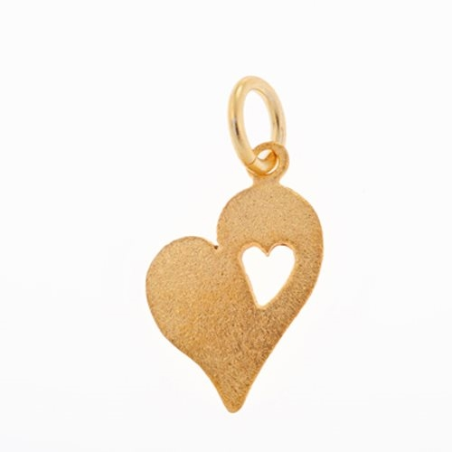 Μενταγιόν Καρδιά σε Χρυσό