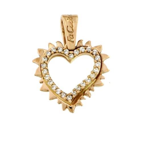 Μενταγιόν Καρδιά σε Χρυσό και Ζιργκόν Signity