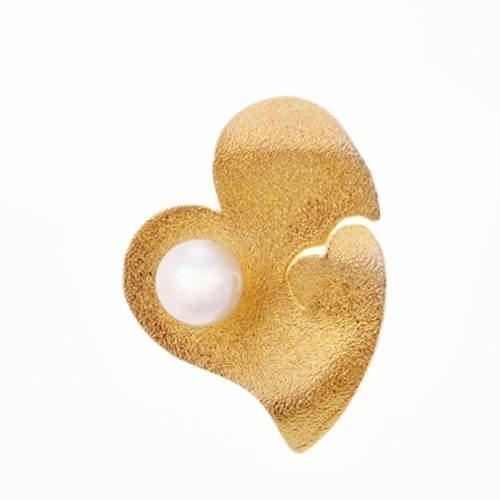 Μενταγιόν Καρδιά σε Χρυσό με Μαργαριτάρι