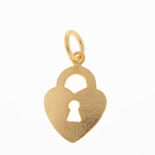 Μενταγιόν Λουκέτο Καρδιά σε Χρυσό