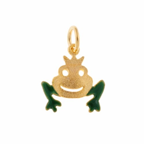Μενταγιόν Πρίγκιπας Βάτραχος σε Χρυσό και Σμάλτο