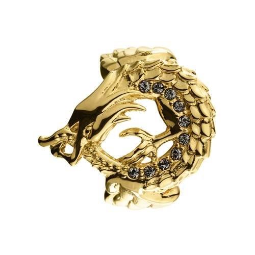 Rinji Δαχτυλίδι σε Επιχρυσωμένο Ανοξείδωτο Ατσάλι με Swarovski