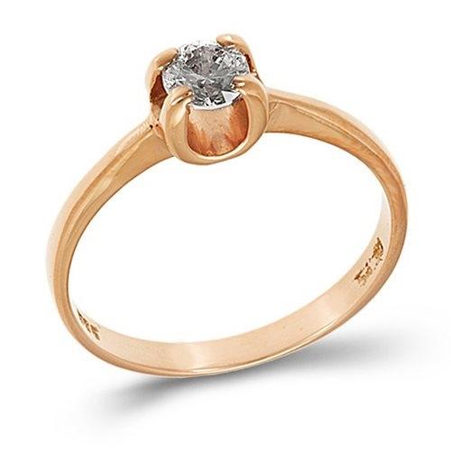 Ροζ Χρυσό Μονόπετρο Δαχτυλίδι με Ζιργκόν