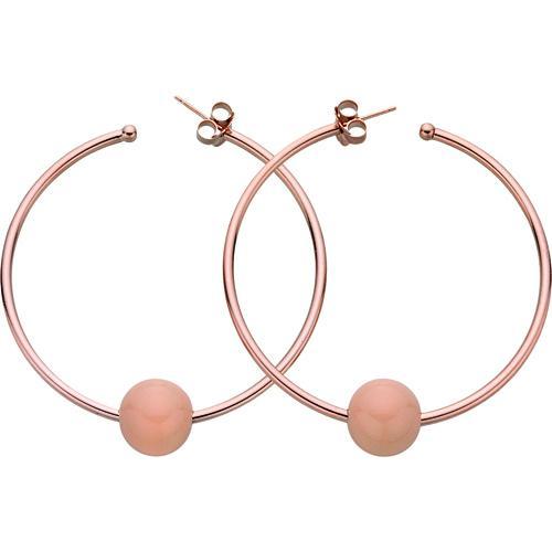 Σκουλαρίκια σε Ροζ Επιχρυσωμένο Ασήμι