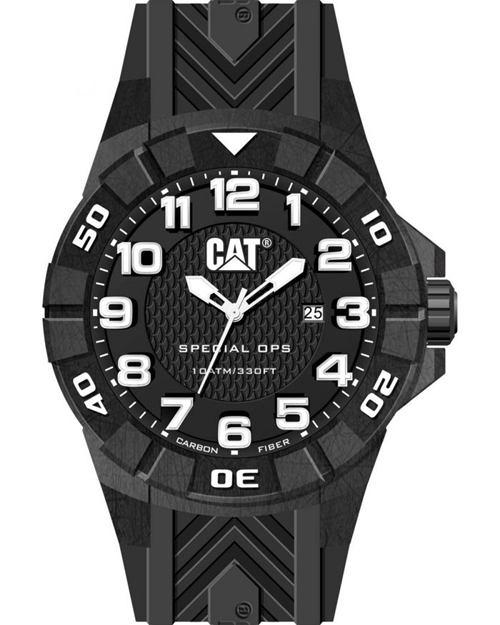 Special Ops Black Silicone Strap
