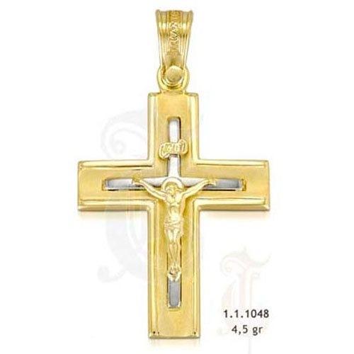 Σταυρός σε Δίχρωμο Χρυσό