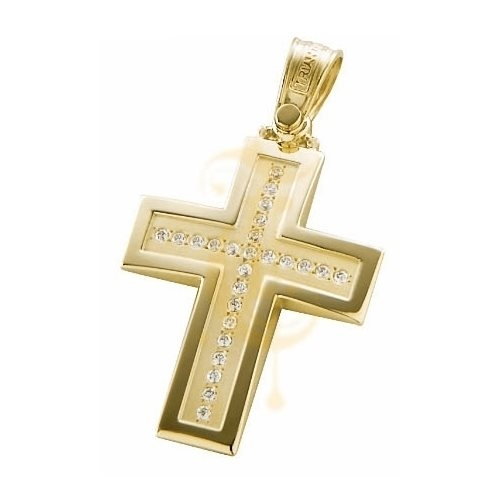 Σταυρός Χρυσός με Ζιργκόν