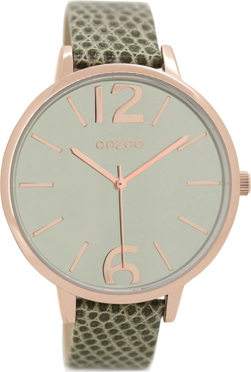 Timepieces Green Croco Leather Strap