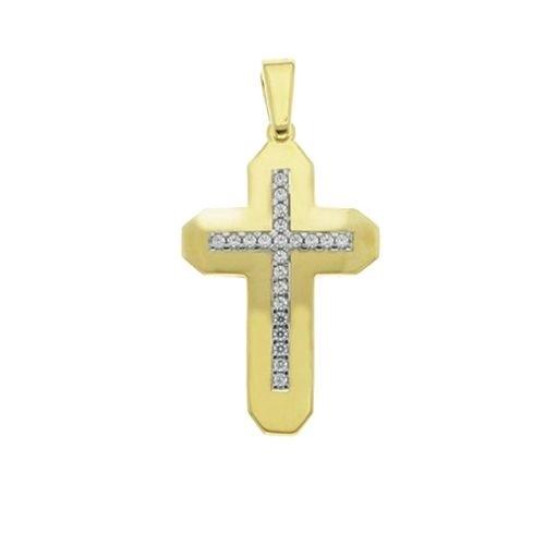 Βαπτιστικός Σταυρός με Ζιργκόν