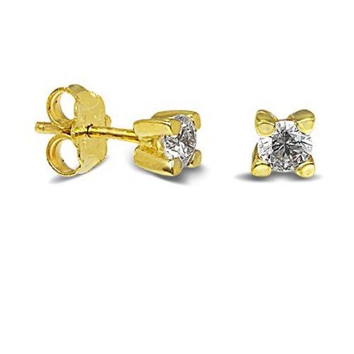 Χρυσά Σκουλαρίκια με Ζιργκόν