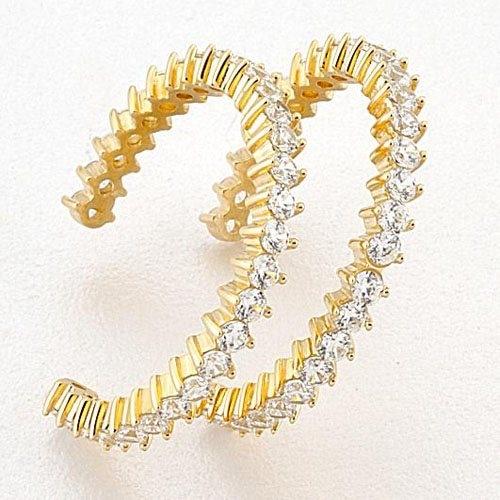 Χρυσά Σκουλαρίκια με Ζιργκόν Signity
