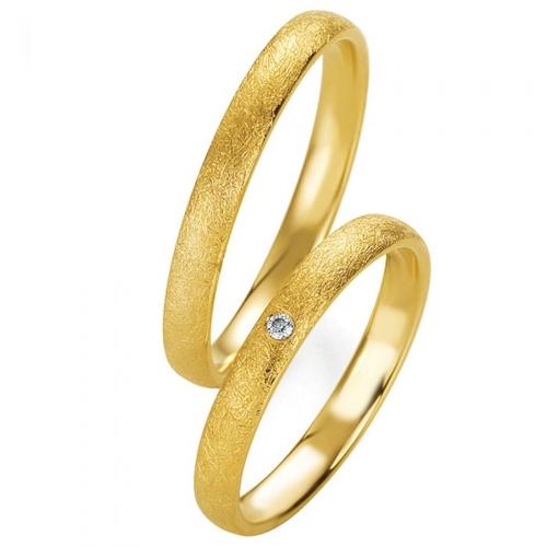 Χρυσές Βέρες Γάμου με Διαμάντι