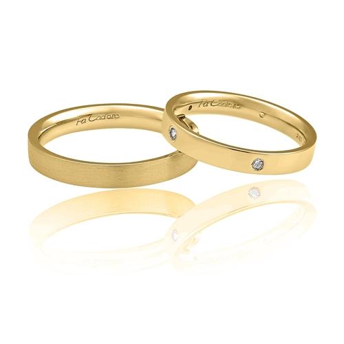 Χρυσές Βέρες Γάμου με Μπριγιάν