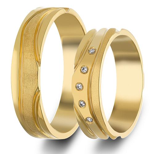 Χρυσές Βέρες Γάμου με Ζιργκόν