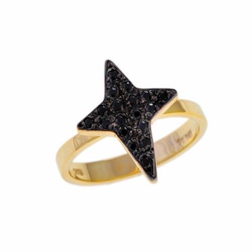 Χρυσό Δαχτυλίδι Αστέρι με Ζιργκόν