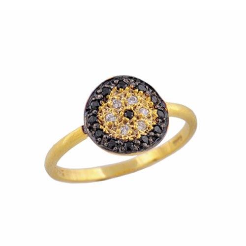 Χρυσό Δαχτυλίδι Κύκλος με Ζιργκόν
