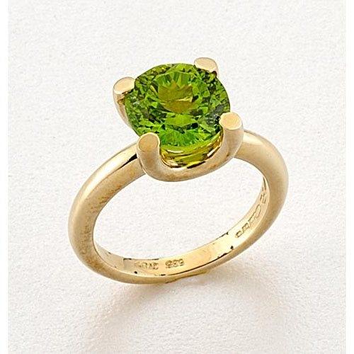 Χρυσό Δαχτυλίδι με Πέτρα Peridot