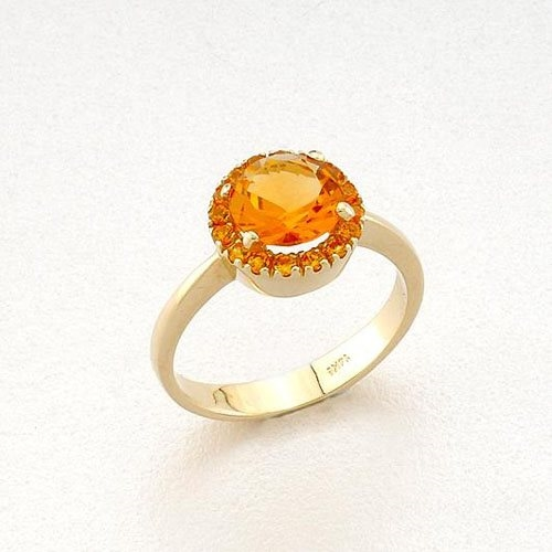 Χρυσό Δαχτυλίδι με Σιτρίν