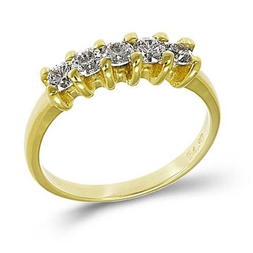 Χρυσό Δαχτυλίδι Σειρέ με Ζιργκόν