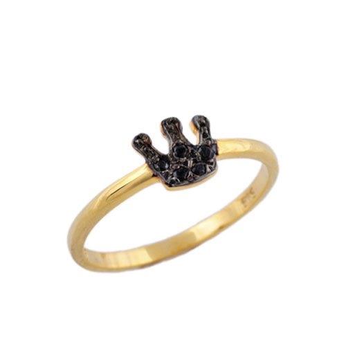 Χρυσό Δαχτυλίδι Στέμμα με Ζιργκόν